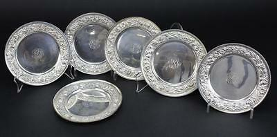 Stieff Baltimore Rose Sterling Silver Bread Plates Lot 44