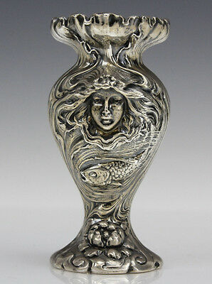 Sterling Foster & Bailey Art Nouveau Repousse Vase Lot 186