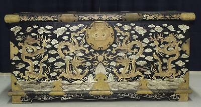 Elaborate & Detailed Antique Chinese Dragon Chest Lot 208A