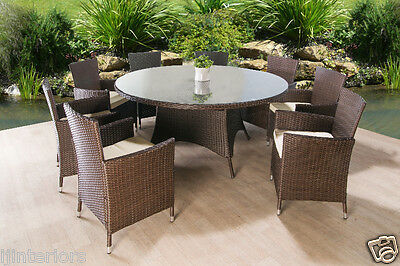 Rattan Garden Furniture Set Dining Table And 8 Chairs Dining Set