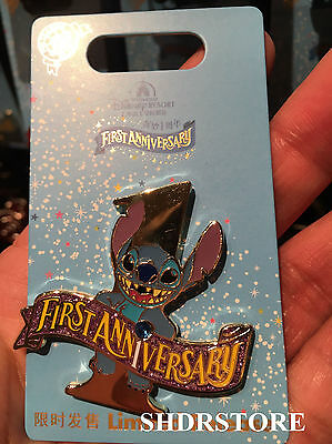 Stitch Limited Shdr New Pin First Anniversary Disney Shanghai Disneyland