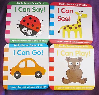 New Lot Of 4 Really Decent Super Softs Books For Babies And Toddlers I Can Learn