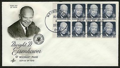 #1393a 6c Eisenhower, Art Craft FDC **ANY 4=FREE SHIPPING**
