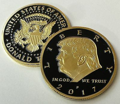 Limited Edition Donald Trump 24kt Gold Plated w/Black inlay Presidential EAGLE
