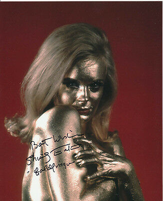 Shirley Eaton SIGNED photo - J1134 - James Bond - Goldfinger