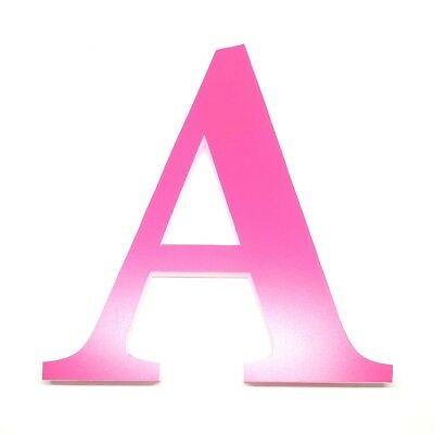 Pink Letters 6 Inches plastic  (alphabet and ampersand)