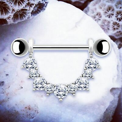 Kendall | Silver Nipple Shields Nipple Bars Nipple Rings Nipple Piercing Jewelry