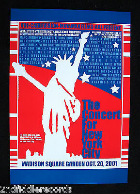 THE CONCERT FOR NEW YORK CITY-2001 Concert Poster-David Bowie-U2-The Who-Clapton