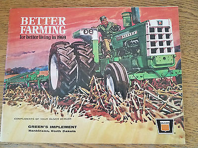 """1969 Oliver """"Better Farming for Better Living in 1969"""" Tractor Sales Brochure"""