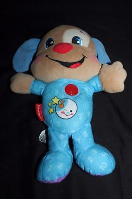 2013 Fisher-Price Bedtime Puppy Dog Music Singing Talking Lights-up Circle 3+