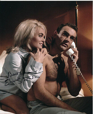 Shirley Eaton SIGNED photo - J1118 - James Bond - Goldfinger