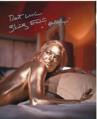 Shirley Eaton SIGNED photo - J1126 - James Bond - Goldfinger
