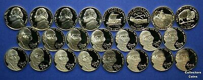 2000 ,2001 -2003,2004, 2005-2009, 2010-2018 S Proof Jefferson 21 Nickel Coin Set