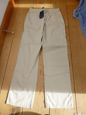 Ralph Lauren Polo Girls Beige Relaxed Chino Summer Trousers 16 Y 160  Straight