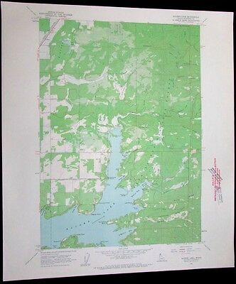 Hayden Lake Idaho Coeur Dalene National Forest vintage 1963 old USGS Topo chart