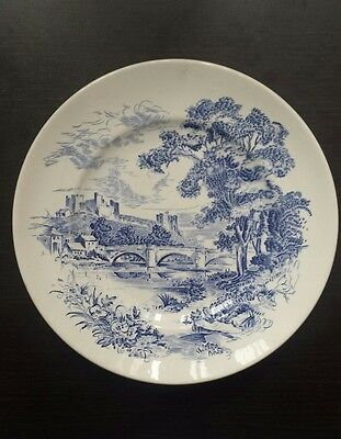 """Countryside Wedgwood plate Blue dinner plate 10"""" Made in England"""