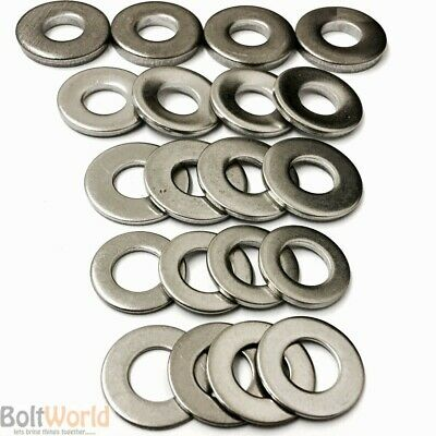 A2 & A4 Stainless M3 M4 M5 M6 M7 M8 M10 Form A B C G & Washers Heavy Thick Flat