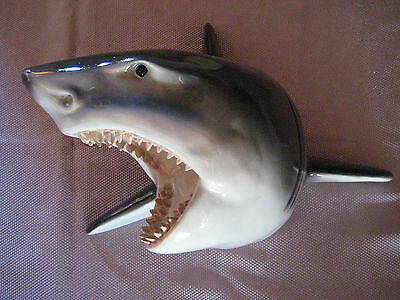 Shark Head Wall Mount Statue
