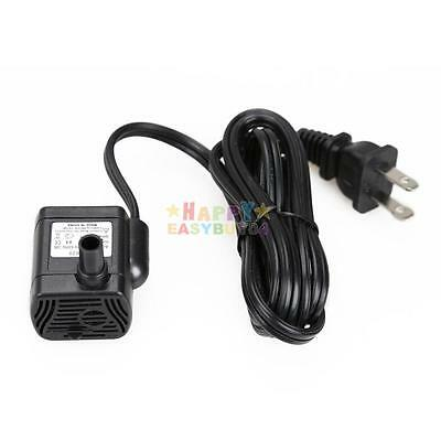 AC 110V 3W Mini Water Pump Submersible Water Pump Aquarium Fountain Pond US plug
