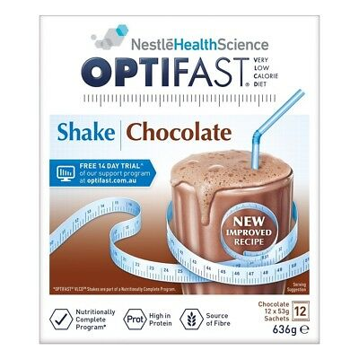 OPTIFAST VLCD Chocolate Flavour Protein Shake 53g X 12 Packs