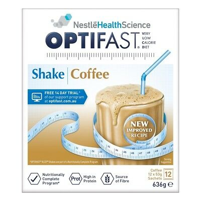 OPTIFAST VLCD Coffee Flavour Protein Shake 53g x 12 Packs