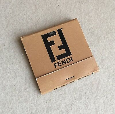VINTAGE Designer FENDI Rodeo Drive BEVERLY HILLS Store MATCHBOOK Matches ~UNUSED