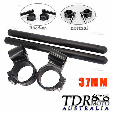 37mm CNC Clip Ons Handle Bars Handlebar For Honda Kawasaki Ninja 250R Ninja 300