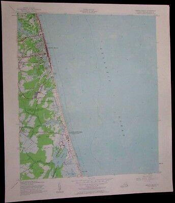 Virginia Beach Virginia US Naval Reservation vintage 1958 old USGS Topo chart