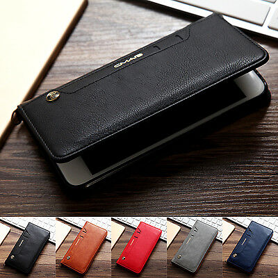 Removable Leather Card Wallet Flip Phone Case Skin Cover For iPhone 7 6S 7 Plus