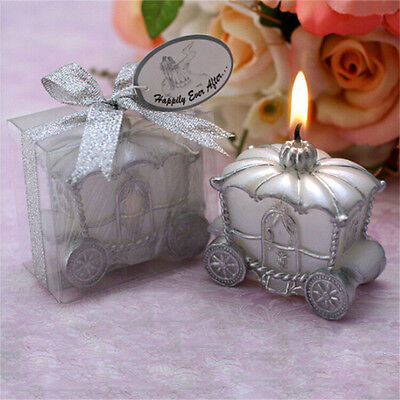 Fashion Elegant Pumpkin Carriage Candle for Wedding Favor Birthday Party Gift TO