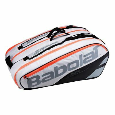 New Babolat Pure White 12 Racket Racquet Capacity Tennis Bag