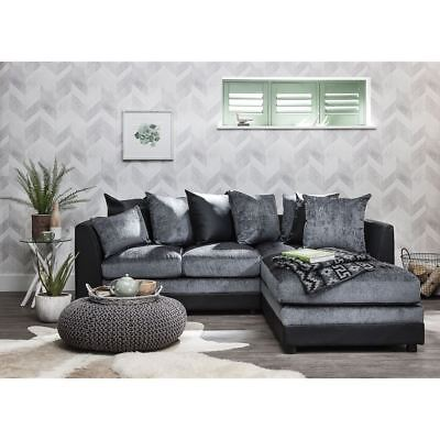 Corner Group Sofa Right & Left Hand Grey & Black & Brown