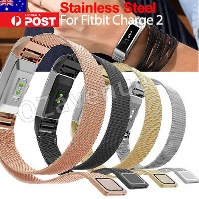 Metal Stainless Steel Milanese Loop Wrist Band Strap For FitBit Charge 2 Watch