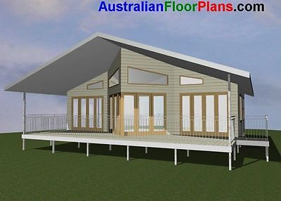 Design 100 DRA/ 2 Bed Cottage-Small Home/ Flat / Construction Plans For Sale