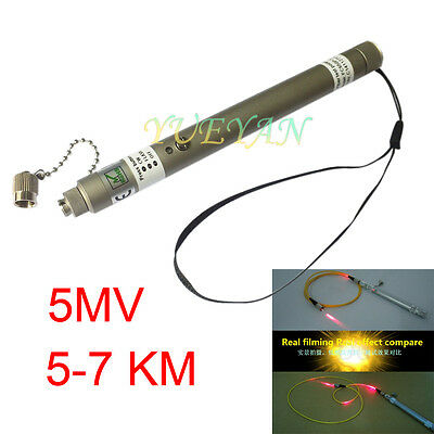 5mW 5~7KM Pen Type Visual Fault Locator VFL Red  Light Fiber Optic Cable Test