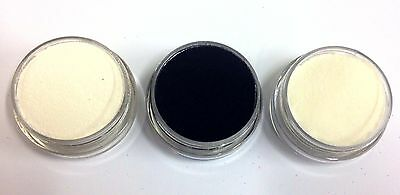 Embossing Powder 3 x 10ml Essential set - Clear, Black, White, DETAIL / FINE