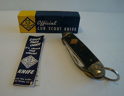 Official Vintage Cub Scouts Knife With Box And Instructions