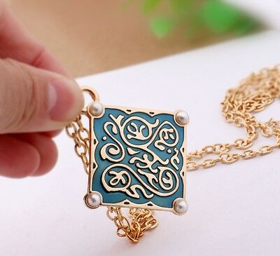 New The Witcher 3 Triss Medallion Necklace Gold Plated Pearls Pendant