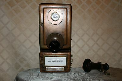 ANTIQUE HOTEL TELEPHONE 1913:  Hotel Desk Hand Crank from New York