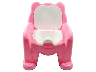 New Easy Clean Kids Pink Toddler Potty Training Chair Seat Removable Potty Lid