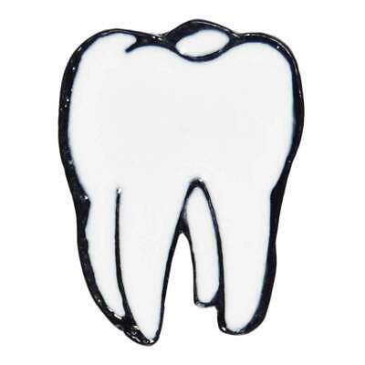 Tooth Enamel Pin Badge Dental Retro Punk Goth Jacket Lapel Aussie Seller