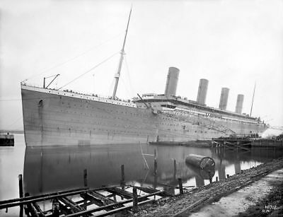 RMS Titanic White Star Ship Unpainted Vintage Ocean Liner Travel Photo Print