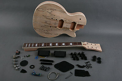 Kit DIY Guitarra Les Paul caoba - Unfinished electric guitar DIY Mahogany