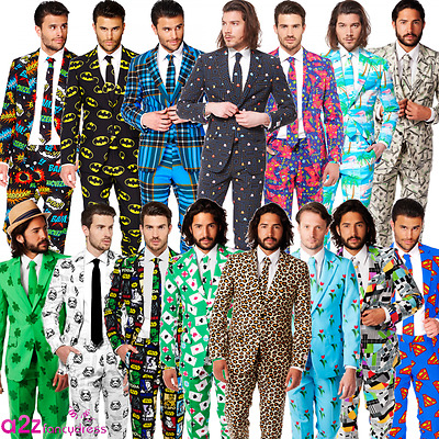 Mens Adult Formal Suit Opposuits Novelty Patterned Wedding Prom Party