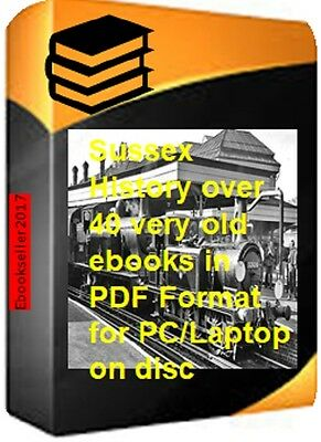 ebooks, Local history of Sussex genealogy 40 +in pdf, kellys directories on disc