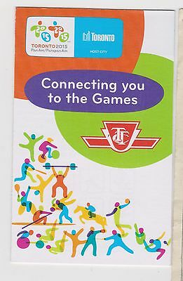 """Rare Toronto TTC Small Pamphlet """"Connecting You To Pan Am Games"""" Transit 2015"""