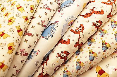 100% Cotton Print Fabric - Winnie The Pooh & Friends - Piglet, Tigger & Eeyore
