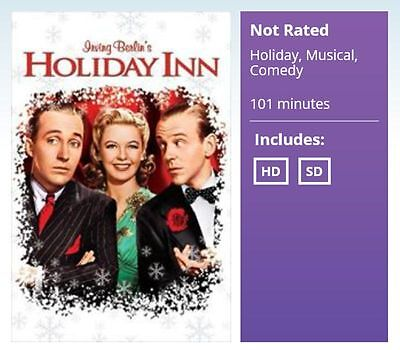 HOLIDAY INN Digital HD Uv Code Only Bing Crosby & Fred Astaire