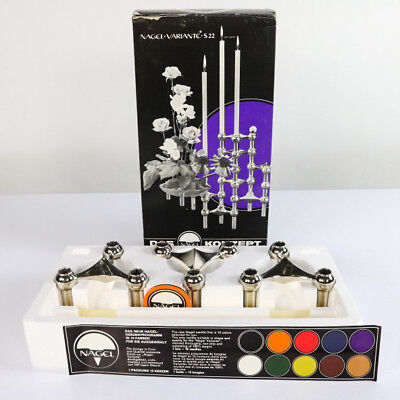 Nagel Kerzen Ständer Halter Variante S 22 Set Box Vintage Candle Holder BMF
