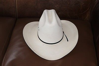 TEXAS HAT CO. 20X Handwoven Shantung Cowboy Hat. Size  6 3 4. Crown ... 812582fd54ce